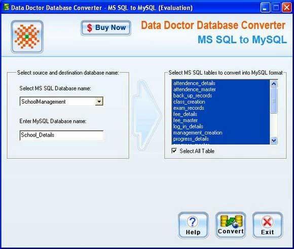 MSSQL To MySQL Converter ex